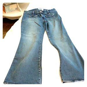 Old navy vintage wash bell bottom jeans